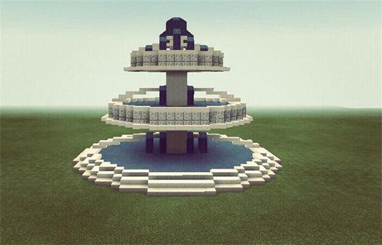 我的世界圆形喷泉教程 圆形喷泉怎么做